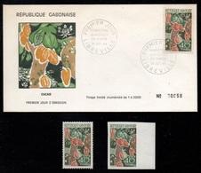 CACAO - COCOA - CHOCOLAT / 1968 GABON # 232 **, NON DENTELE & FDC (ref 7986) - Ernährung