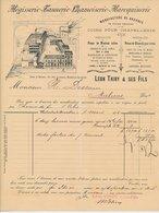 Factuur / Brief Bruxelles / Brussel 1894 - R. Liard - Leon Thiry - Tannerie - Maroquinerie - Leather Goods - België