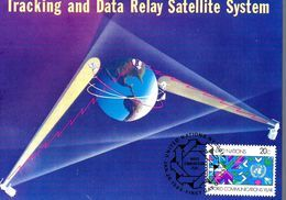 ONU  Carte Maxi 1983 Relai Satellite Telecommunication Globe - Telecom