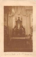 """GRUES  - Carte-Photo De L'Intérieur De L'Eglise En 1917 -  L'Autel De Sainte-Vierge  - Photographe """"Clément Girard"""" - France"""