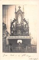 """GRUES  - Carte-Photo De L'Intérieur De L'Eglise En 1918 -  L'Autel De Sainte-Vierge  - Photographe """"Clément Girard"""" - France"""