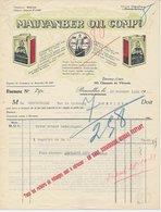 Factuur / Brief Bruxelles / Brussel 1931 - Mauvanber Oil Company - België