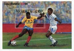 Lote 1994, Nicaragua, 2044, HF, SS, USA 94, Soccer, Football, Futbol, Adolfo Valencia, Colombia, FIFA - Nicaragua