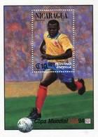 Lote 1994, Nicaragua, 2043, HF, SS, USA 94, Soccer, Football, Futbol, Faustino Asprilla, Tino, Colombia, FIFA - Nicaragua