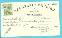 BRASSERIE CAULIER MONS 1944  (B6942) - Belgique