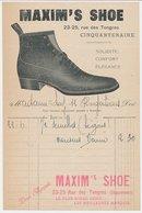 Factuur / Brief Bruxelles / Brussel 191. - Maxim's Shoe - Belgium