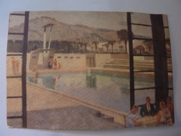 """Cartolina """"PRIMA MOSTRA  TRIENNALE DELLE TERRE ITALIANE D'OLTREMARE NAPOLI 1940 - La Piscina Natatoria Del Ristorante"""" - Napoli"""