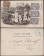 """Madagascar - CP Voyagée - DIEGO-SUAREZ """" Famille Indigène Partant Au Marché """" (6G19424) DC1461 - Madagascar"""