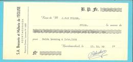 BRASSERIE ET MALTERIE DE L'ECLUSE - BROUWERIJ BOORTMEERBEEK 1959 RECU (F951) - 1950 - ...