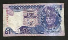 MALAYSIA - MALESIA - 1 RINGGIT (1986 - 1989) - Malaysie
