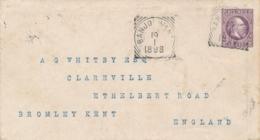 Nederlands Indië - 1898 - 25 Cent Willem III, Envelop G3c Van VK BANJOEWANGI Naar Bromley / Kent / UK - Indes Néerlandaises