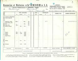 BRASSERIE ET MALTERIE L'UNION / F.BIERNAUX - JUMET 1957 (F534) - Belgique