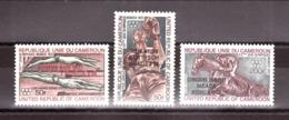 Cameroun - 1972 - PA N° 205 à 207 - Neufs ** - Tp Surchargés - Médailles D'or Aux JO - Cameroun (1960-...)