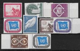 T 00193 - Nations Unies New York 1951  N° 1 à 9 Neufs Luxes - New York -  VN Hauptquartier