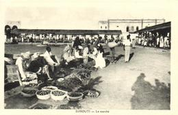 1 Cpa Djibouti - Le Marché - Djibouti