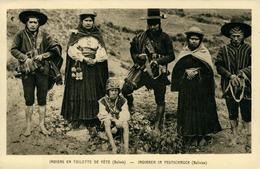 BOLIVIE  Indiens En Toilettes De Fête  Ed Braun - Bolivie