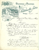 BRASSERIE ET MALTERIE PATERNOTTE BINCHE 1928 (F509) - Belgique