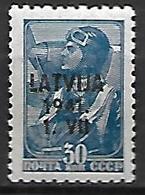 LETTONIE   -  Occupation Allemande   -  1941.   Y&T N° 5 **.  Timbre Russe Surchargé - Lettonie