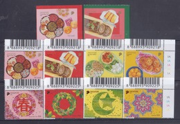 Singapore 2018 Festivals, Christmas, Chinese New Year, Deepavali, Hari Raya + Booklet Stamps MNH - Singapour (1959-...)