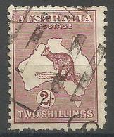 Australia - 1929 Kangaroo  2s Purple Brown Used   SG 110  Sc 99 - Used Stamps