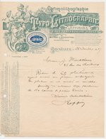 Factuur / Brief Bruxelles / Brussel 1917 - J. Goffin -  Typographie & Lithographie - 1900 – 1949