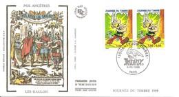 Fdc39-ENVELOPPE PREMIER JOUR DU TIMBRE JOURNEE DU TIMBRE 1999 ASTERIX N° P3226A - FDC