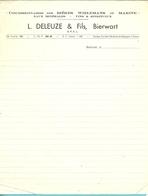 CONCESSINNAIRES DE BIERES - L. DELEUZE - BIERWART (brasserie) (F796) - Alimentaire