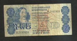 SOUTH AFRICA - SOUTH AFRICAN RESERVE BANK - 2 RAND - Sudafrica