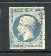 Superbe N° 14Af Bleu Laiteux - Cachet PC 704 - 1853-1860 Napoléon III