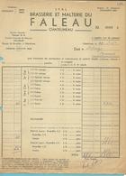 BRASSERIE ET MALTERIE DU FALEAU / CHATELINEAU 1954 (F214) - Belgique