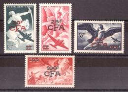 Réunion - 1949 - Poste Aérienne N° 45 à 49 - Neufs * - Série Mythologique - Cote 45 - Réunion (1852-1975)