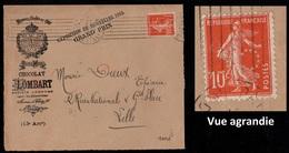 CACAO - COCOA - CHOCOLAT / 1911 PERFORE LOMBART SUR DEVANT DE LETTRE ILLUSTREE  (ref 7987) - Ernährung
