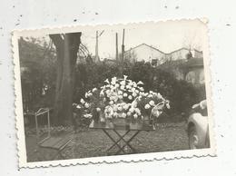 Photographie , 10 X 7 , Fleurs ,corbeille De Fiancailles,1958 - Objetos