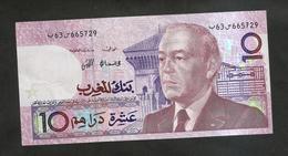 MAROCCO - Bank  Al MAGHRIB - 10 DIRHAMS (1987) - Maroc