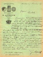 VP14.196 - Lettre - Quincaillerie , Ferblanterie , Armurerie - Dépot De Coffres - Forts G. AUZOUX à MONTIVILLIERS - 1800 – 1899