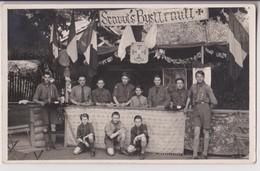 """CARTE PHOTO PIERRE PRUNET AGEN : SCOUTISME - DEVISE DES SCOUTS """"ETRE PRET"""" - SCAOUTS BYSTTRAUTT ? - ALBRET ? - 2 SCANS - - Scoutisme"""