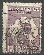 Australia - 1932 Kangaroo 9d Violet Used   SG 133  Sc 122 - Used Stamps