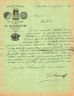 VP14.197 - Lettre - Quincaillerie , Ferblanterie , Armurerie - Dépot De Coffres - Forts G. AUZOUX à MONTIVILLIERS - 1800 – 1899