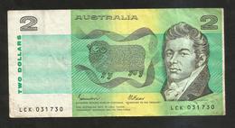 AUSTRALIA - 2 DOLLARS - Emissions Gouvernementales Décimales 1966-...