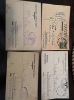 Croatia Ww2 4 Jewish Prisoner Cards Lepoglava And Jasenovac Judaica - Croatia