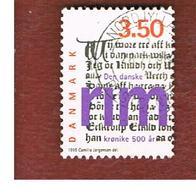 DANIMARCA (DENMARK)  -   SG 1051  -  1995 THE RHYMED CHRONICLE    - USED ° - Danimarca