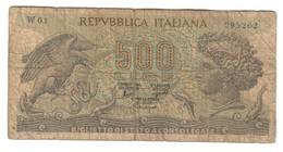 Italy 500 Lire Sostitutiva / Replacement 31/03/1966 W01 - [ 2] 1946-… : Républic