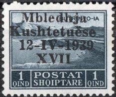 ALBANIA, OCCUPAZIONE ITALIANA, ASSEMBLEA COSTITUENTE, COMMEMORATIVI, 1939,NUOVI (MLH*), Scott 299, Mi 299, Sass. 1 - Albania