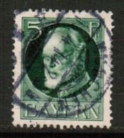 BAVARIA  Scott # 96 VF USED (Stamp Scan # 440) - Bavaria