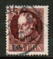 BAVARIA  Scott # 106 VF USED (Stamp Scan # 440) - Beieren