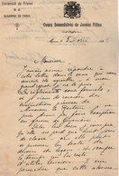 VP14.199 -  MEAUX - Lettre & 3 Reçus - Université De France - Académie De PARIS - Cours Secondaires De Jeunes Filles - Vieux Papiers