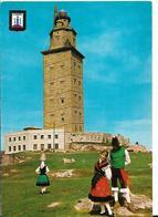 LA CORUNA TORRE DE HERCULES TOUR D HERCULE JOLIE FILLE EN COSTUME - La Coruña