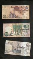EGITTO - Central BANK Of EGYPT - 25 & 50 Piastres And 1 Pound (Lot Of 3 Banknotes) - Egitto
