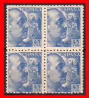ESPAÑA BLOQUE DE 4  SELLOS GENERALISIMO FRANCO AÑO 1940 - 1931-50 Nuevos & Fijasellos