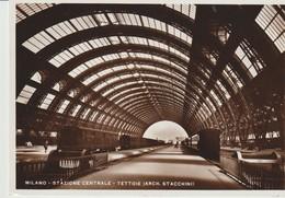 CP - PHOTO - MILANO - STAZIONE CENTRALE - TETTOIE - STACCHINI - TRAINS - 114 - MARCO - 1933 - Milano